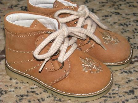 Ботинки кожанные VERO CUOIO р-р 19,24 : Цена 175 грн.